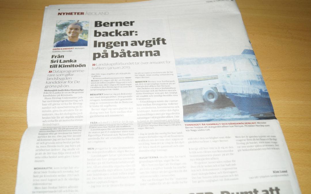 Från Sri Lanka till Kimitoön – ÅU – Finland
