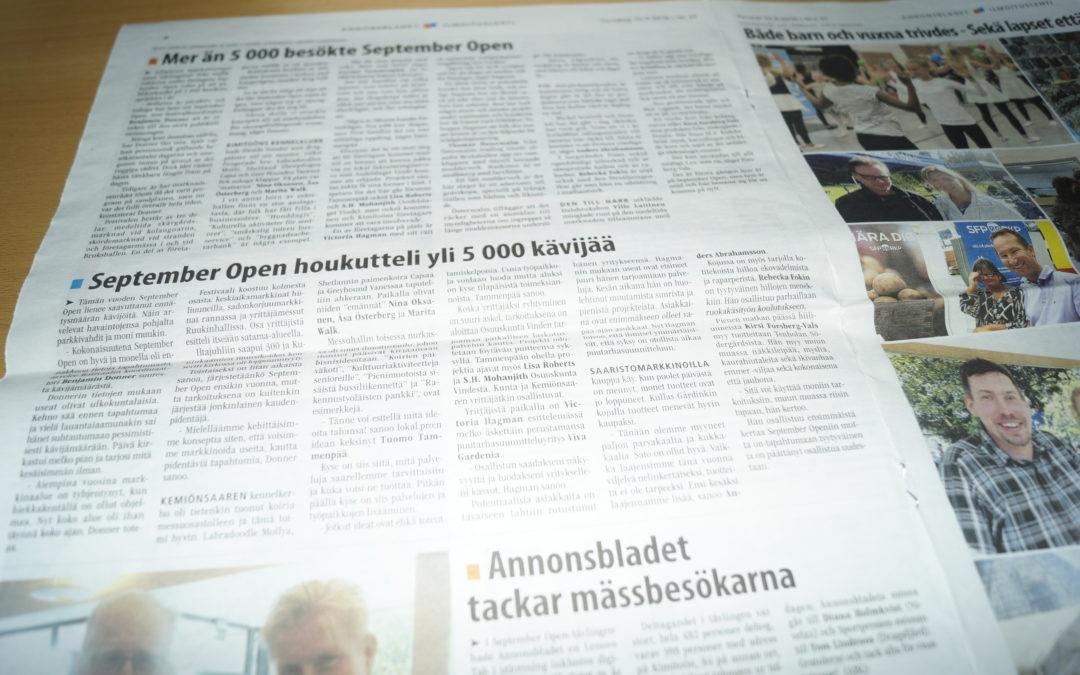 Mer än 5000 besökte September Open – Annonsbladet – Finland